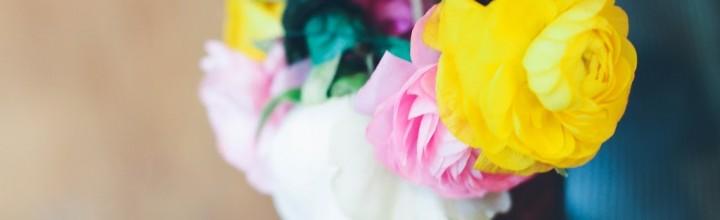 DIY Wedding Flower Crowns – Bride and Flower Girl.